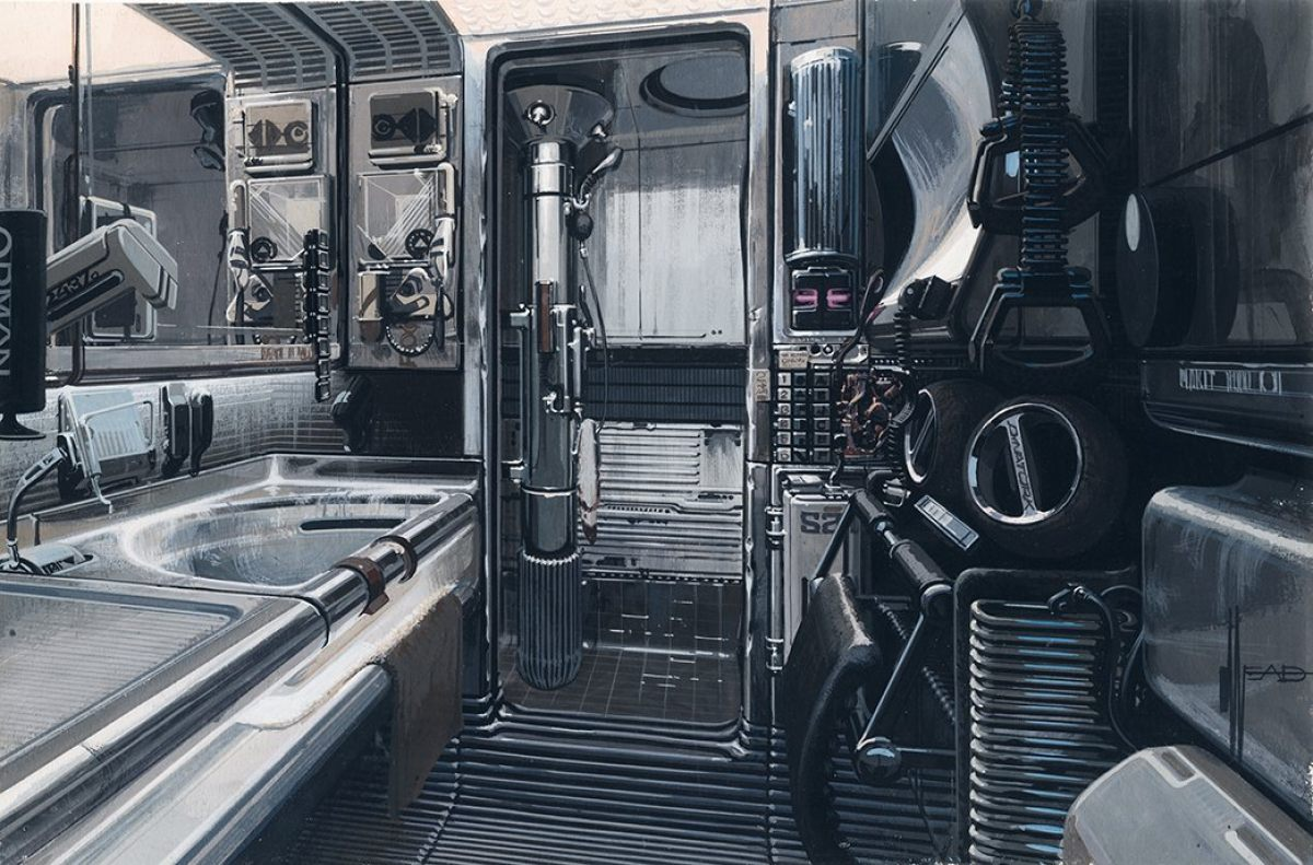 from blade runner to here exclusive images from the movie art of syd mead visual futurist. Black Bedroom Furniture Sets. Home Design Ideas