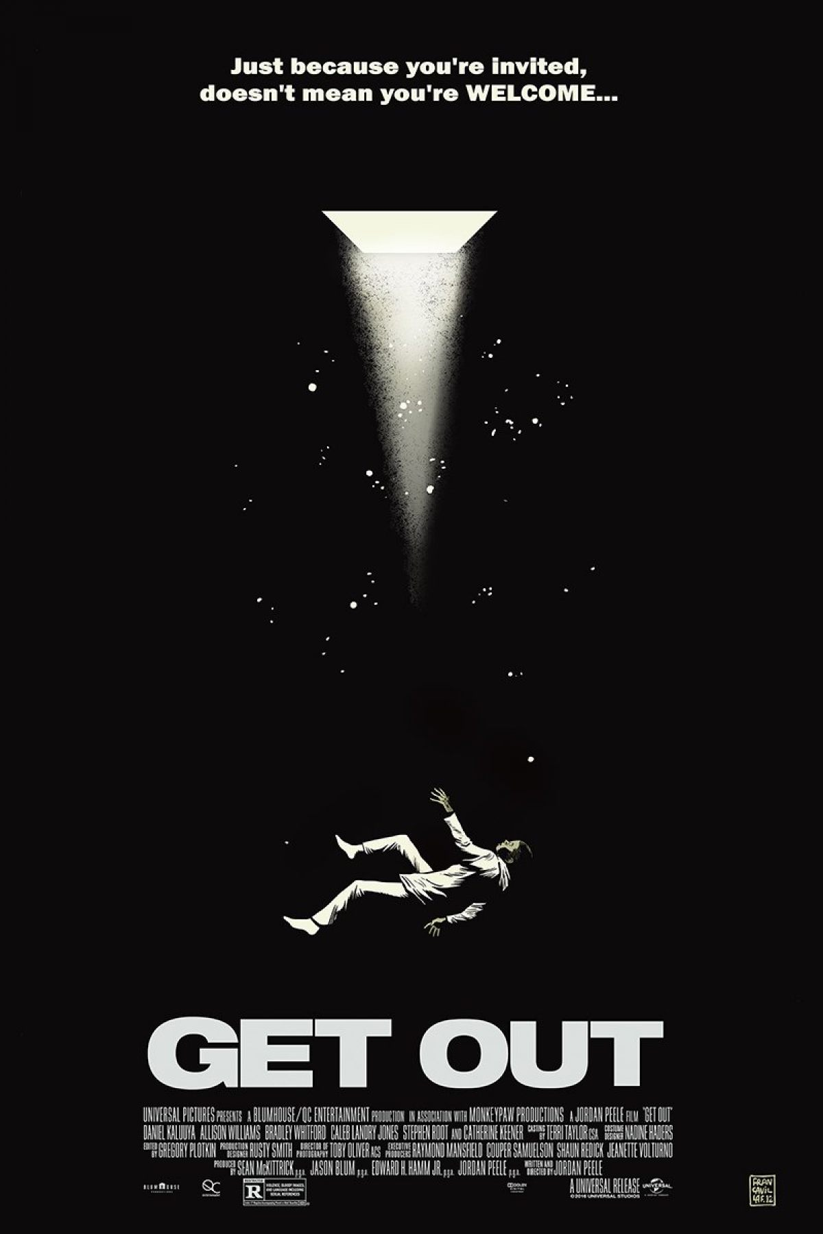 get in on these get out posters from mondo birth movies death. Black Bedroom Furniture Sets. Home Design Ideas