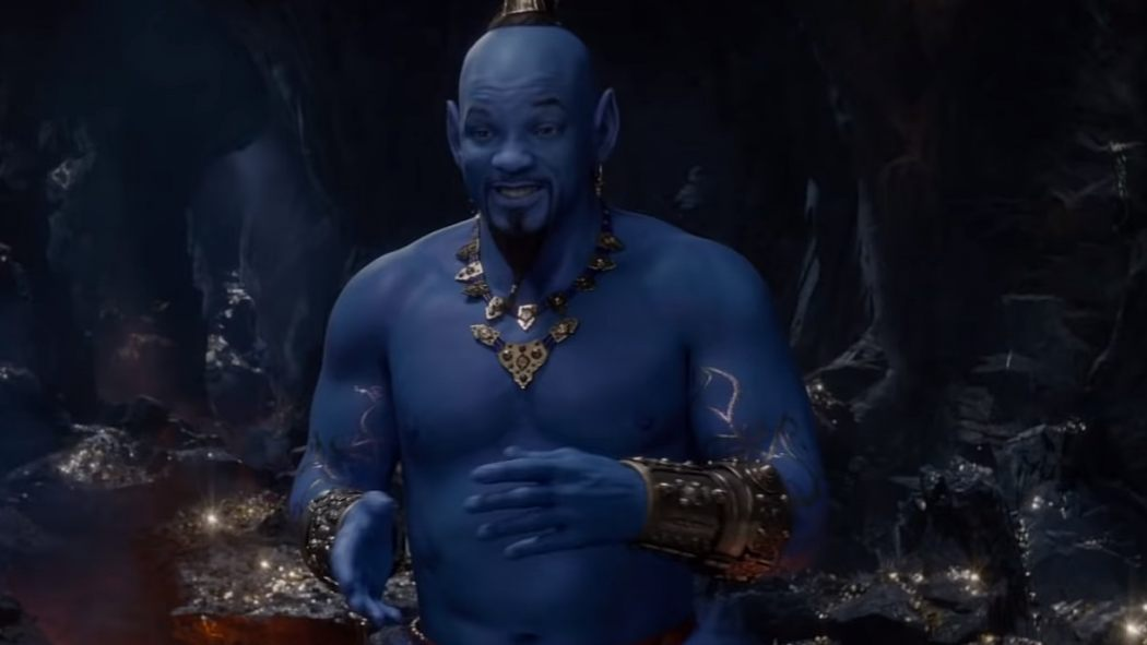 New ALADDIN Trailer Reveals That Blue Will Smith Genie You Were Asking About