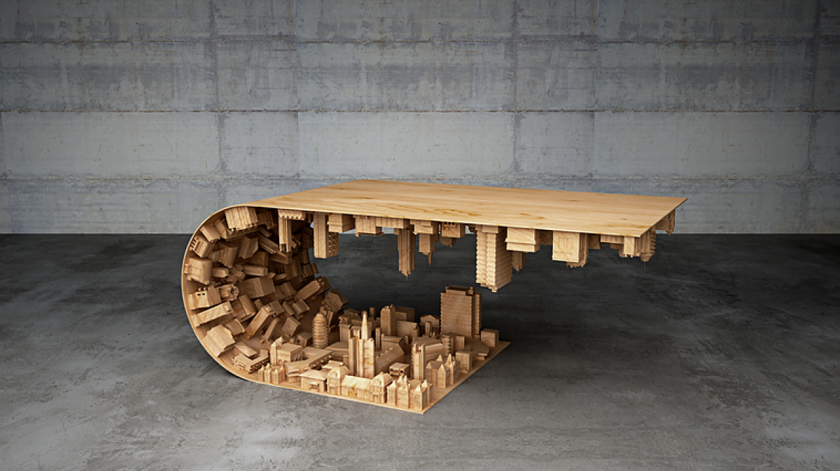 this coffee table honors chris nolan u0027s inception will impale dogs