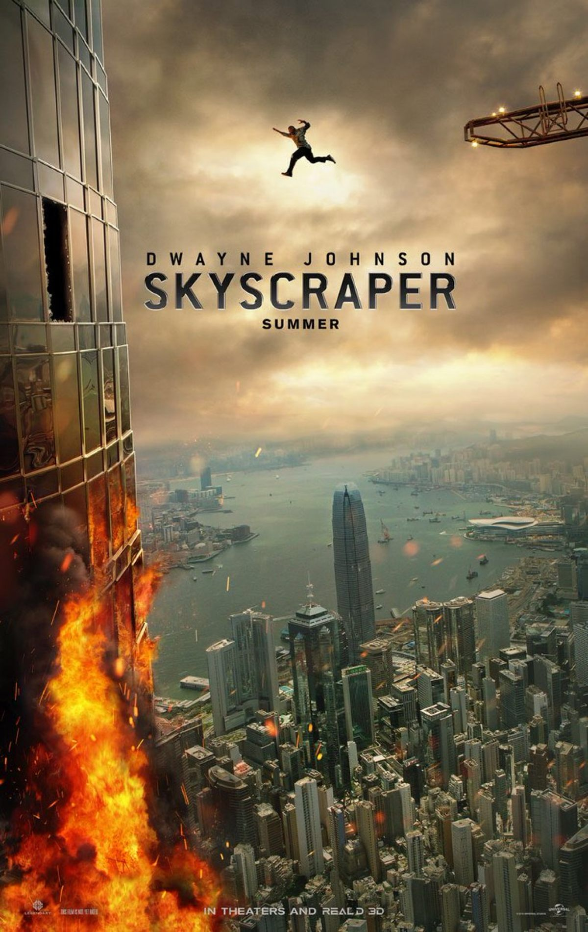 First Skyscraper Poster Will Make You Believe The Rock Can