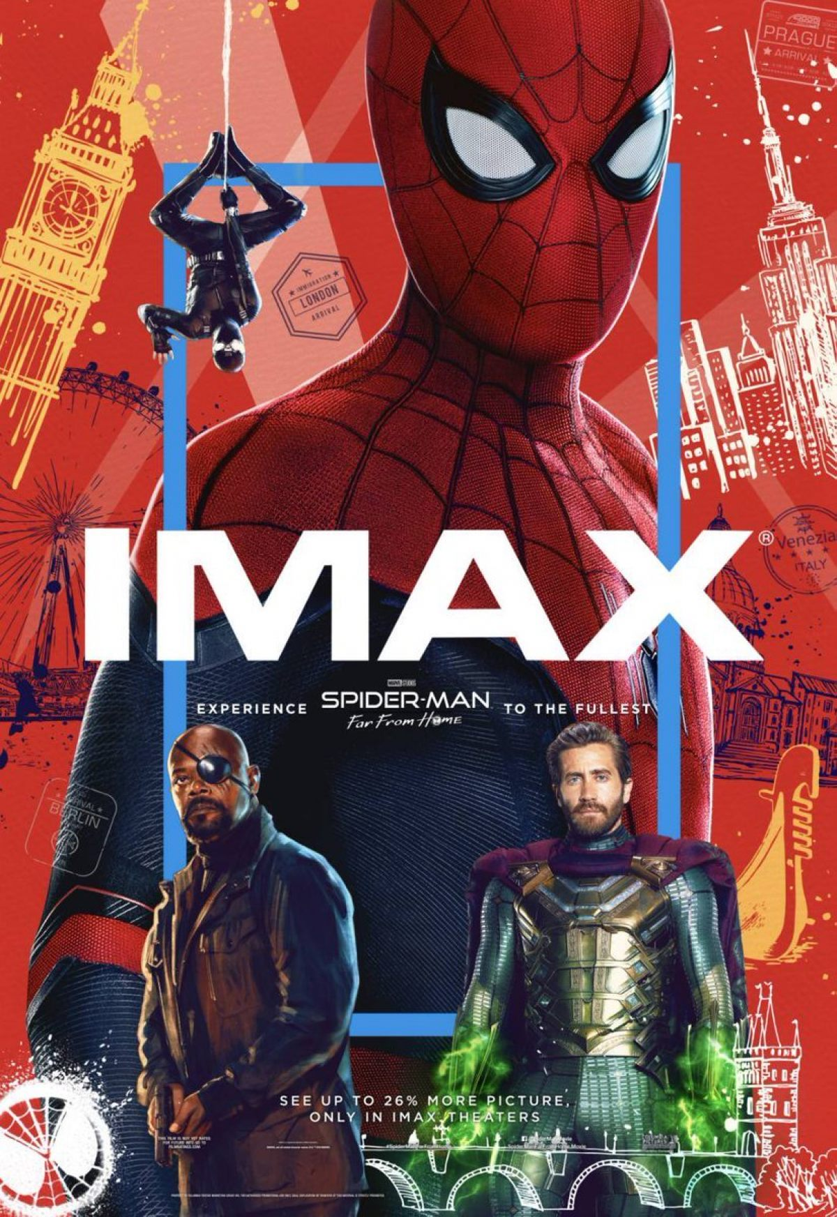 The IMAX Poster For SPIDER-MAN: FAR FROM HOME Maintains