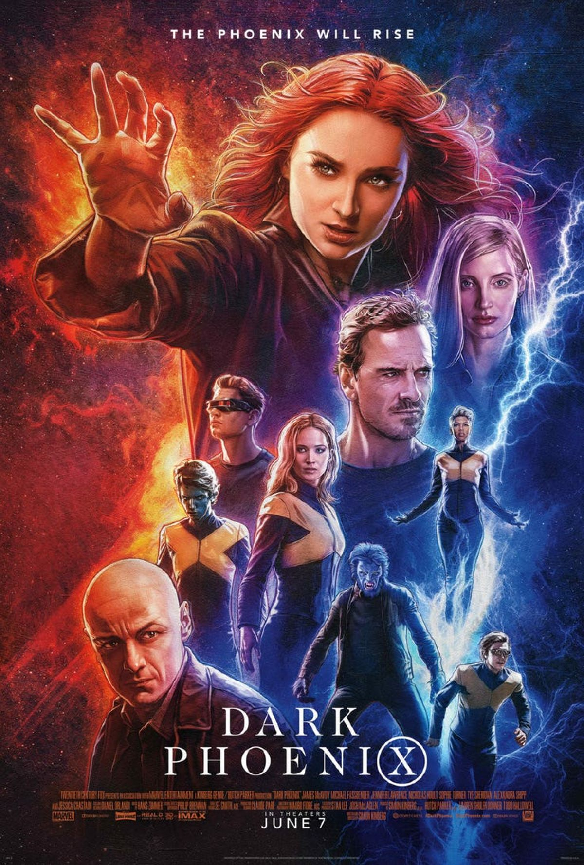 Image result for dark phoenix poster