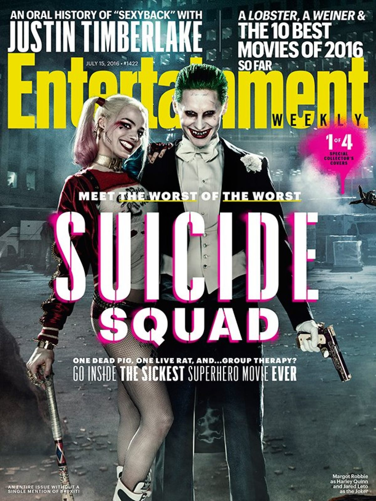 SUICIDE SQUAD Gets A Series Of ENTERTAINMENT WEEKLY Covers